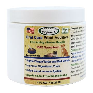 Picture of Mad About Organics All Natural Dog & Cat Oral Care Food Additive Dental Plaque Remover 4oz