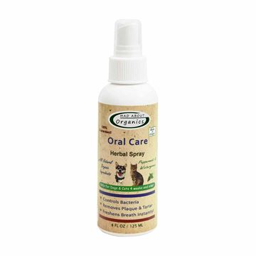 Picture of Mad About Organics All Natural Dog & Cat Oral Care Herbal Spray Dental Plaque Remover 4oz