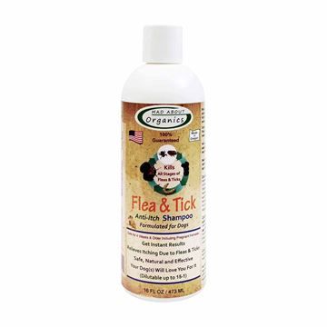 Picture of Mad About Organics All Natural Dog Puppy Flea & Tick Anti-Itch Shampoo Concentrate