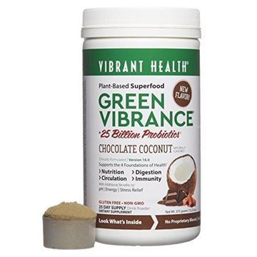 Picture of Vibrant Health - Green Vibrance, Plant-based Superfood  Chocolate Coconut, 25 Servings , 13.23oz