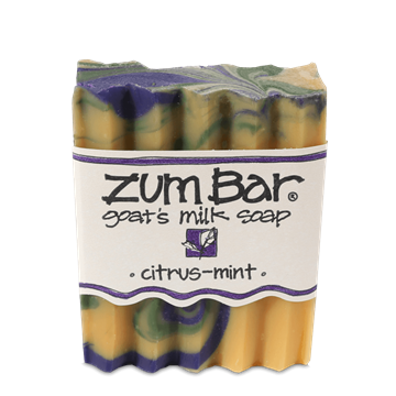 Picture of Indigo Wild  ZUM BAR GOAT'S MILK SOAP, CITRUS-MINT, 3 oz