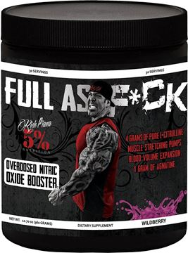 Picture of Rich Piana  5% Nutrition  FULL AS F*CK  NITRIC OXIDE BOOSTER, Wildberry , 30 Servings . 12.70 oz