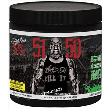 Picture of Rich Piana 5% Nutrition 5150 HIGH STIMULANT PRE-WORKOUT, Green Apple, 30 Servings,  13.23 oz