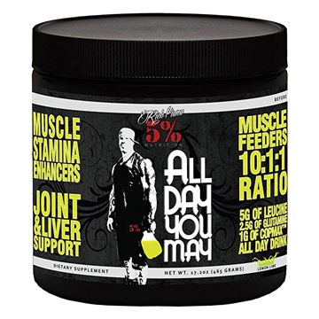 Picture of Rich Piana 5% Nutrition All Day You May BCAA, Lemon-Lime,  30 Servings