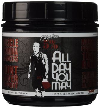 Picture of Rich Piana 5% Nutrition All Day You May BCAA, Fruit Punch,  30 Servings