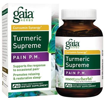 Picture of Gaia Herbs Turmeric Supreme Pain P.M. 60 Count