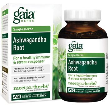 Picture of Gaia Herbs Ashwagandha Root 60 Count