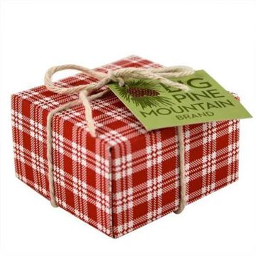 Picture of Big Pine Mountain Hand Wrapped Soap 5.8 oz, Red Plaid