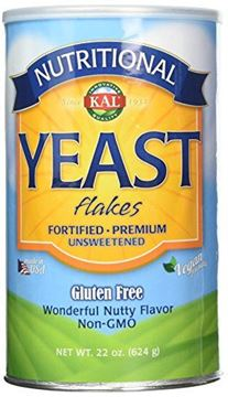 Picture of KAL Nutritional Yeast Flakes | Vitamin B12, Vegan, Non-GMO, Gluten Free | Unsweetened, Great Flavor, No Bitter Aftertaste | Great For Cooking | 22 oz