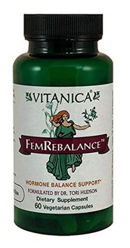 Picture of Vitanica FemRebalance, Hormone Balance Support, Vegan, 60 Capsules