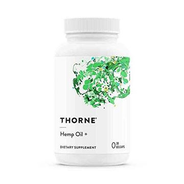 Picture of Thorne Research - Hemp Oil + with Hemp Stalk Oil, Clove, Black Pepper, Hops, and Rosemary - 30 Gelcaps