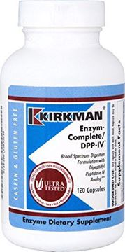 Picture of Kirkman EnZym-Complete/DPP-IV || 120 Vegetarian Capsules || Enzymes || Gluten Free || Casein Free || Tested for more than 950 environmental contaminants