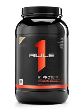 Picture of R1 Protein Whey Isolate/Hydrolysate, Rule 1 Proteins (Cookies and Creme, 38 Servings)
