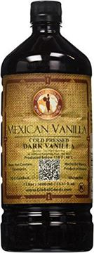 Picture of Mexican Vanilla Dark Cold Pressed 1 Liter / 33.8 Oz