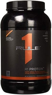 Picture of R1 Protein Whey Isolate/Hydrolysate, Rule 1 Proteins (38 Servings, Chocolate Peanut Butter)