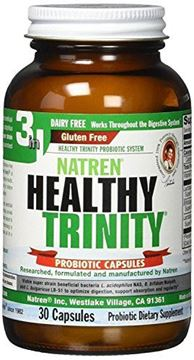 Picture of Natren Healthy Trinity 3 in 1 Probiotic - Oil Matrix Capsules - Dairy Free - 30 Capsules - NOT Ship Cold