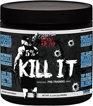 Picture of Rich Piana 5% Nutrition KILL IT Pre Workout (Blue Raspberry) 11.11oz (315 GRAMS) 30 Servings