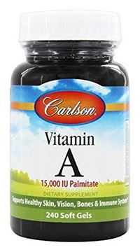 Picture of Carlson Vitamin A Palmitate 15,000 IU, Vision Health, 240 Soft Gels