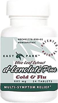 Picture of East Park Research - d-lenolate Plus All-Natural Homeopathic Remedy for Temporary Relief of Cold and Flu-Like Symptoms - 24 Tablets