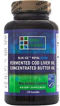Picture of Green Pasture Blue Ice Royal Butter Oil / Fermented Cod Liver Oil Blend - 120 Capsules