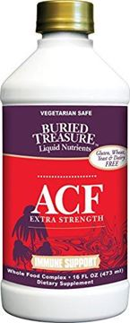 Picture of Buried Treasure ACF Extra Strength Extreme Immune Support with Elderberry Echinacea Vitamin C and Herbal Blend for Comprehensive Rapid Relief 16 Fluid Ounce
