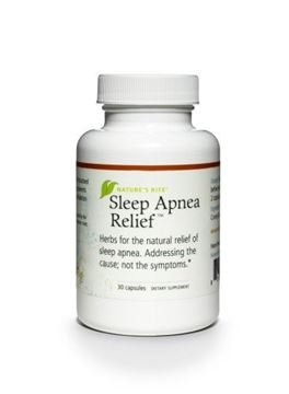 Picture of Natures Rite Sleep Apnea Relief All Natural Supplement 30 Capsules 550 mg
