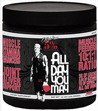 Picture of Rich Piana 5% Nutrition ALLDAYYOUMAY Growth and Full Body Recovery / Watermelon (Watermelon 30 Servings)