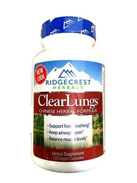 Picture of RidgeCrest Clearlungs (Red), Herbal Breathing Support, Original Formula , 120 Vegetarian Capsules