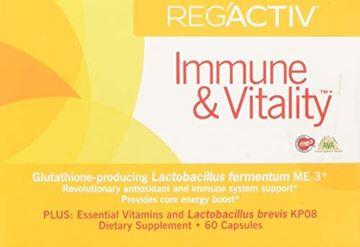 Picture of Reg'Activ Immune & Vitality with Lactobacillus fermentum ME-3, brevis KP08, L-Carnatine tartrate