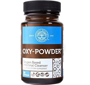 Picture of Global Healing Center Oxy-Powder Colon Cleanse Detox - Oxygen Based Safe and Natural Intestinal Cleanser - Relief from Occasional Constipation (20 Capsules)