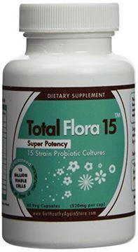 Picture of Get Healthy Again Total Flora 15 60 veg caps (520mg per cap)