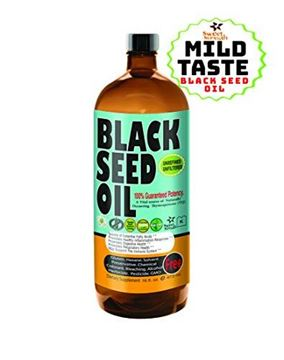 Picture of MILD TASTING Premium Black Seed Oil Cold Pressed -16 oz Glass Bottle - Unfiltered, Vegan & Non-GMO, No Preservatives & Artificial Color by Sweet Sunnah 100% Genuine Nigella Sativa