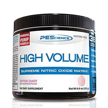 Picture of PEScience High Volume Caffeine Free Pump Pre Workout, Cotton Candy, 252 Gram