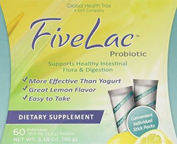 Picture of Global Health Trax Fivelac, .053 Ounce Packets 60-Count