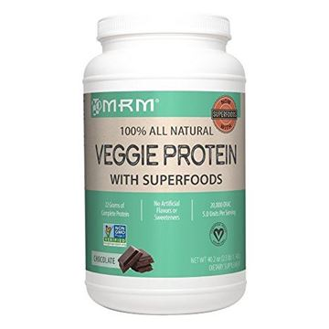 Picture of MRM - Veggie Protein Powder, Protein Source for Vegans, Gluten-Free & Preservative-Free, Non-GMO Verified(Chocolate, 2.5 lbs)