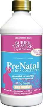 Picture of Buried Treasure Prenatal Plus DHA Complete High Potency Liquid Supplement - Non-GMO, Plant Based, High Quality, Vegetarian Safe - 16 oz
