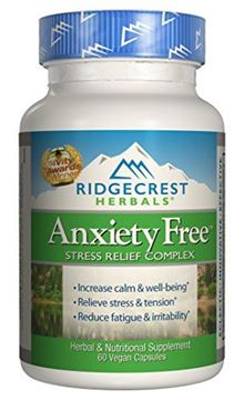 Picture of Ridgecrest Anxiety Free Herbal and Nutrition Stress Support, 60 Count