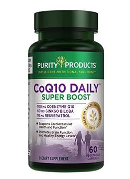 Picture of Purity Products - CoQ10 Daily Super Boost with Ginkgo & Resveratrol - 60 capsules