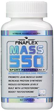 Picture of MASS 550, Ultimate Bodybuilding Product, Promote Lean Muscle Gains, Increase Protein Synthesis, Boost Testosterone, D-Aspartic Acid, Fenugreek, Estrogen Blocker