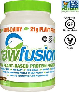 Picture of SAN Nutrition RawFusion Plant Protein Powder, Peanut Chocolate Fudge, 2 Pounds