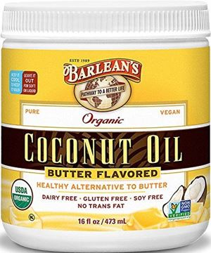 Picture of Barlean's Butter Flavored Coconut Oil, 16 Ounce