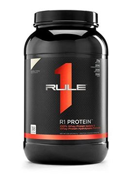 Picture of R1 Protein Whey Isolate/Hydrolysate, Rule 1 Proteins (38 Servings, Vanilla Creme)