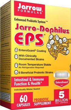 Picture of Jarrow Formulas Jarro-Dophilus EPS, 5 Billion Cells Per Capsule, Supports Intestinal Function and Health, 60 Veggie Capsules