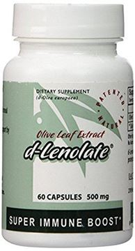 Picture of East Park Research - d-lenolate 500mg - Olive Leaf Extract - Natural Powerful Immune Support & Antioxidant Supplement - 60 Capsules