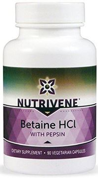 Picture of Nutrivene: Betaine HCL with Pepsin (90 Vegetarian Capsules)