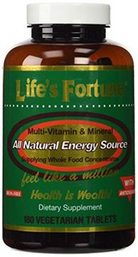 Picture of Life's Fortune® MultiVitamin & Mineral All Natural Energy Source Supplying Whole Food Concentrates - 180 Tabs