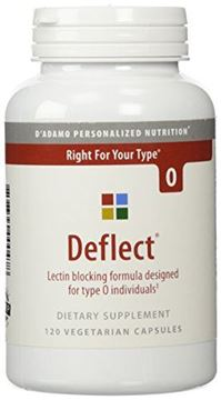 Picture of D Adamo Deflect Lectin Blocking Formula The Blood Type Diet 0 120 Veggie Caps