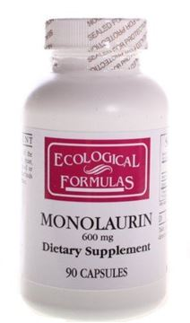 Picture of Ecological Formulas/cardiovascular Res. - Monolaurin 600mg - 90 Capsules (180 Capsules)