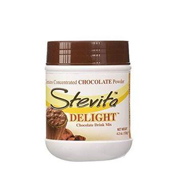 Picture of Stevita Delight Sugar Free, Semi Sweet Cocoa Powder - 4.2 Ounce Jar - Organic Stevia Powder and Cocoa Powder Drink Mix, Low Calorie - Vegan, Gluten Free - 36 Servings