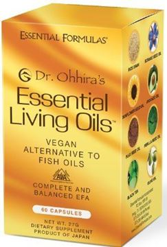 Picture of Dr. Ohhira's Essential Living Oils - 60 Capsules - A Vegan Alternative to Fish Oil with Omega 3, 6 and 9